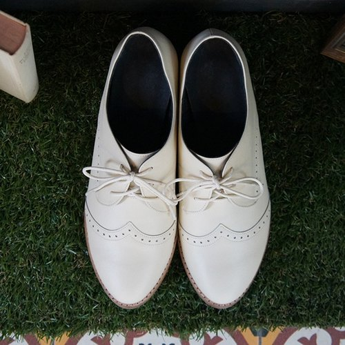 GT thick with Oxford shoes - beige