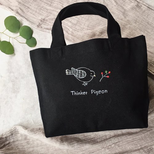 mini totebag 【Thinker pigeon 】