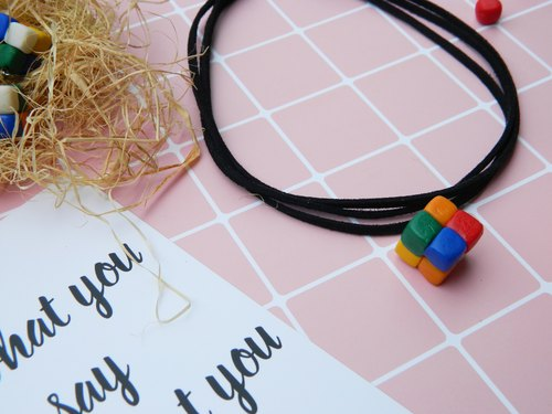Magicube Series | Cube Series | Playful Cubes Chocolate Necklace