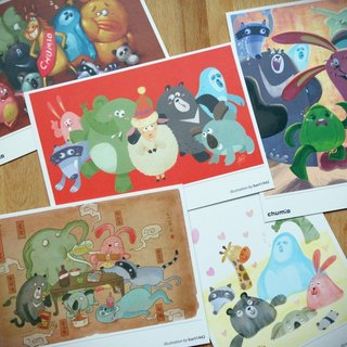 CHUMIO classic postcard set (five)