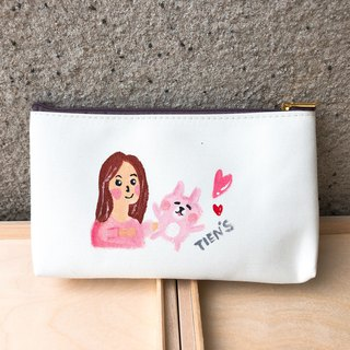 Customized hand-painted wallet / pencil case