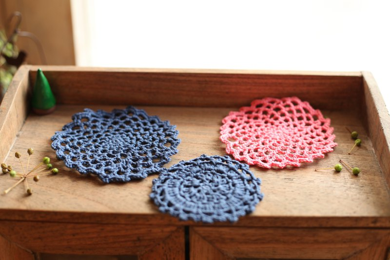 [Good day] hand Jingya crochet piece three piece set / home decoration (03)