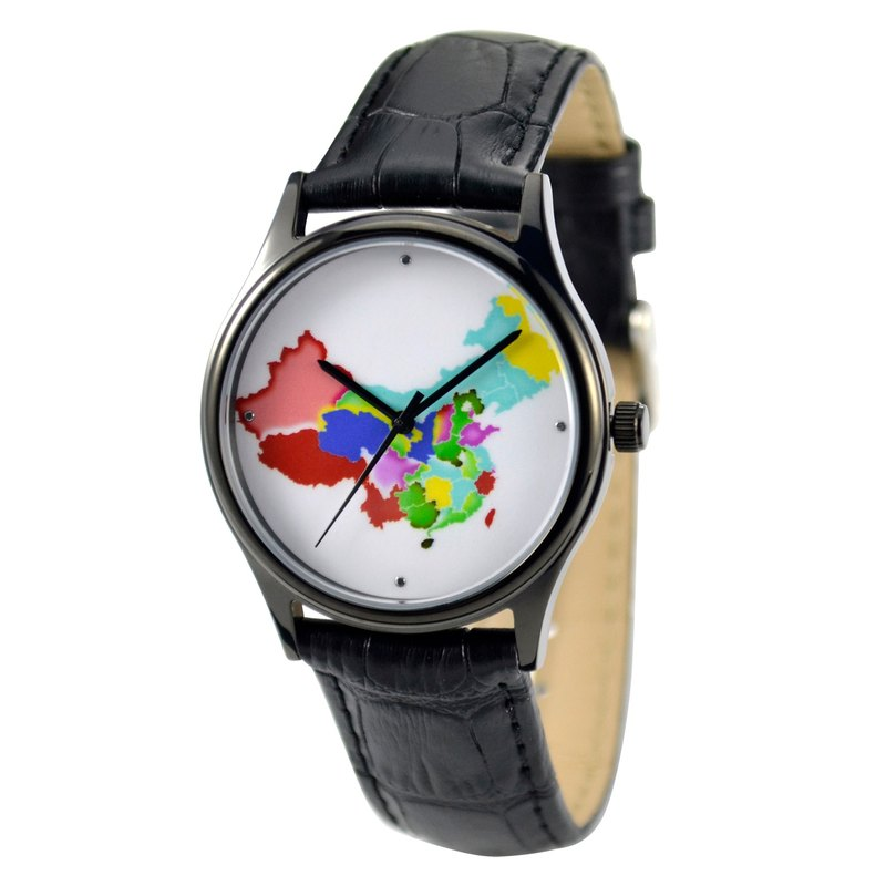 Colorful China Map Watch Unisex Free shipping worldwide