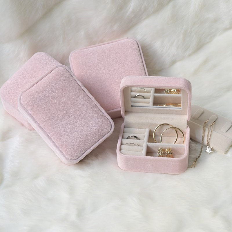 Mini Travel Jewelry Box (Pink)