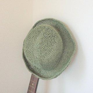yuoworks / Summer hat / made of Japanese traditional paper Washi / green