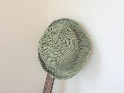 Summer hat, made of Japanese traditional paper Washi, green
