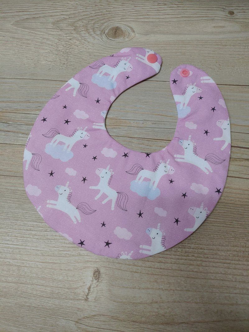 Double-sided bib-purple unicorn