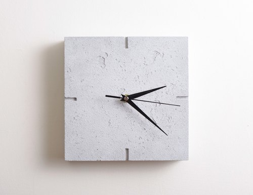 Cement side wall clock