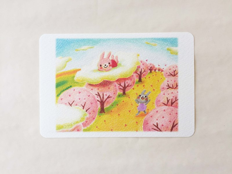 Sakura sky's stamp post card no.057