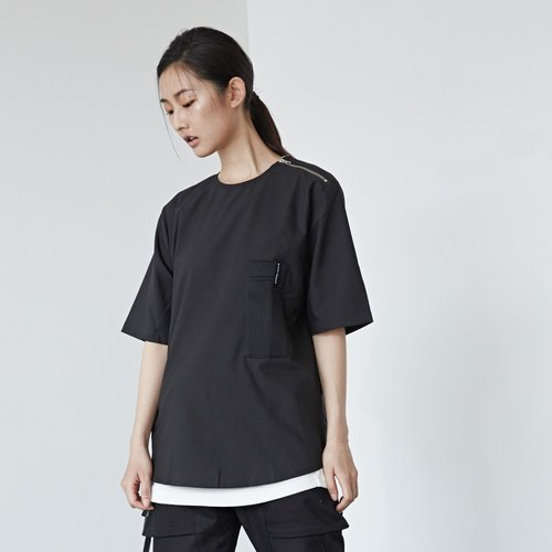DYCTEAM - Stitching Mesh Pocket Tee