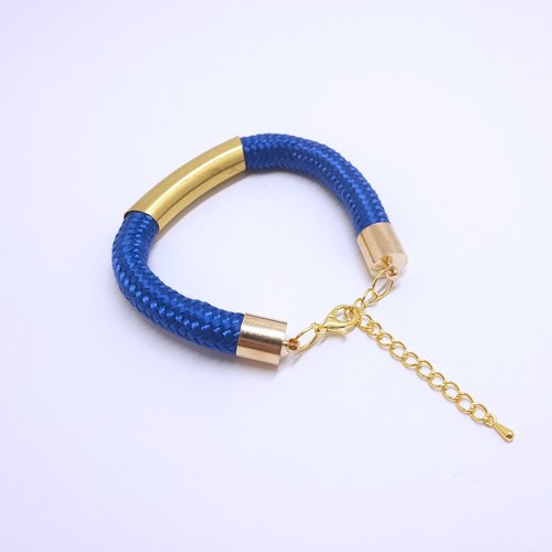 Rope Copper Bracelet - Blue