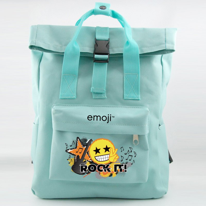 Emoji authorized - open buckle backpack (light green), EM04