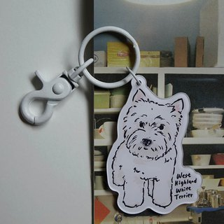 West Highland White Terrier Key Ring