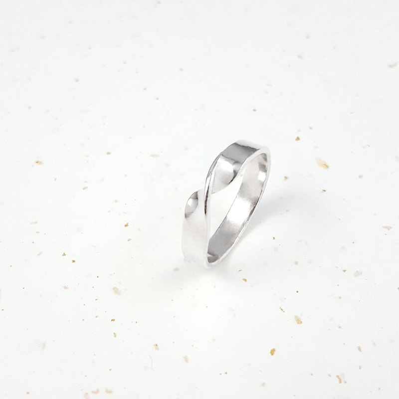 【ワークショップ】Metalworking Course [1 person into a group] Love unlimited silver ring wide version hand-made ring girlfriends couple gift