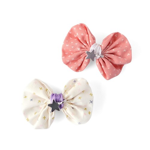 American Joli Sophie butterfly tied rope silver star hairpin 2 into powder + white JSHC2CHWP
