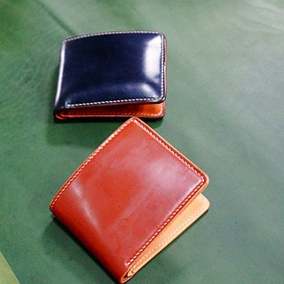 [Liang Xuyi Leather] hand-stitched leather short clip / horses hip leather / Ma Jiang leather / leather / pocket change / color