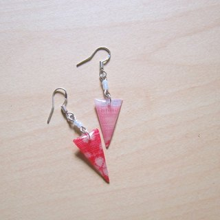 Cherry color // 2nd use Accessories / Accessories Cloth / fabric earrings