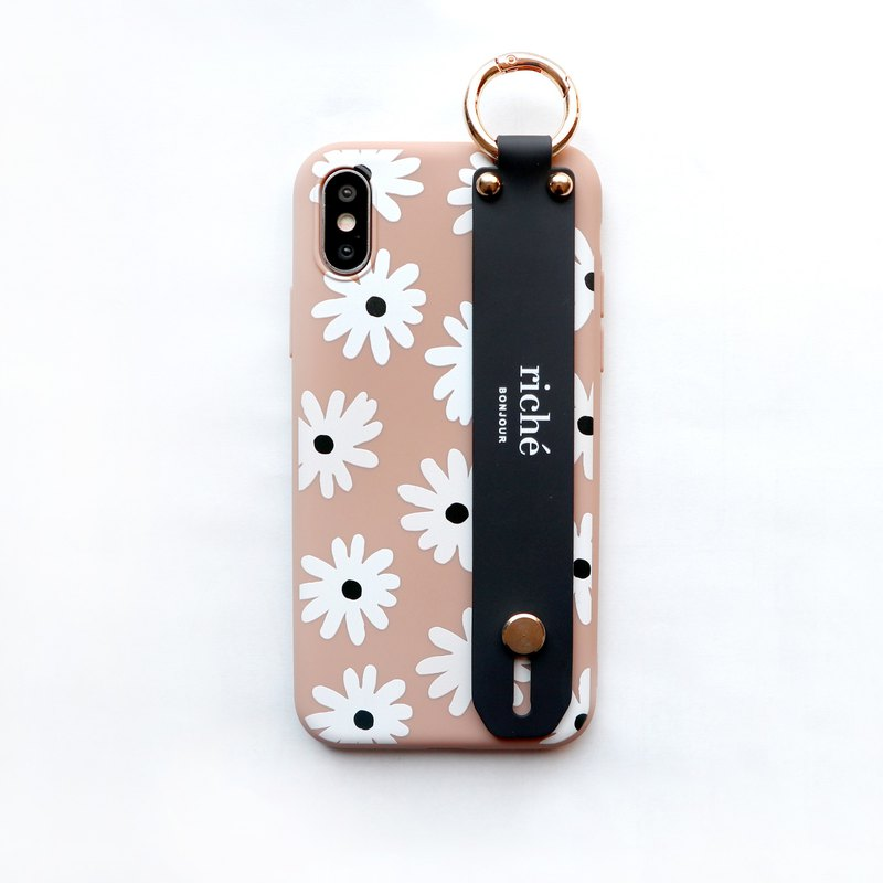 Cappuccino Daisy Hand with Phone Case