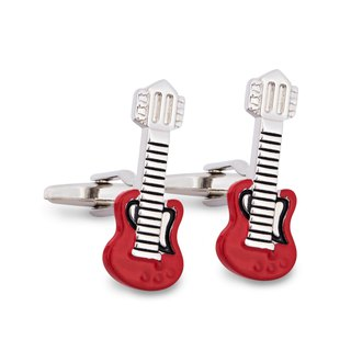 Guitar in Red Cufflinks