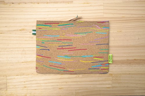 SOWOO] [color colorful cork Pouch - Christmas New Year gift exchange