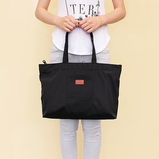 LAPELI │ large capacity polyester handbag black