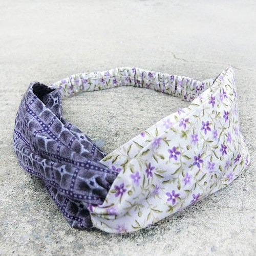 [Shell art] purple geometric collision color hair band