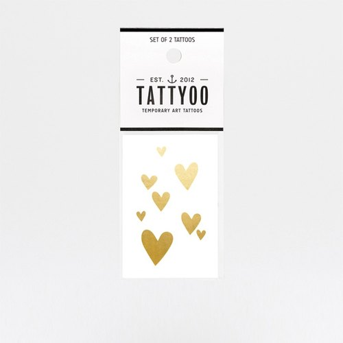 Golden love tattoos sticker | TATTYOO
