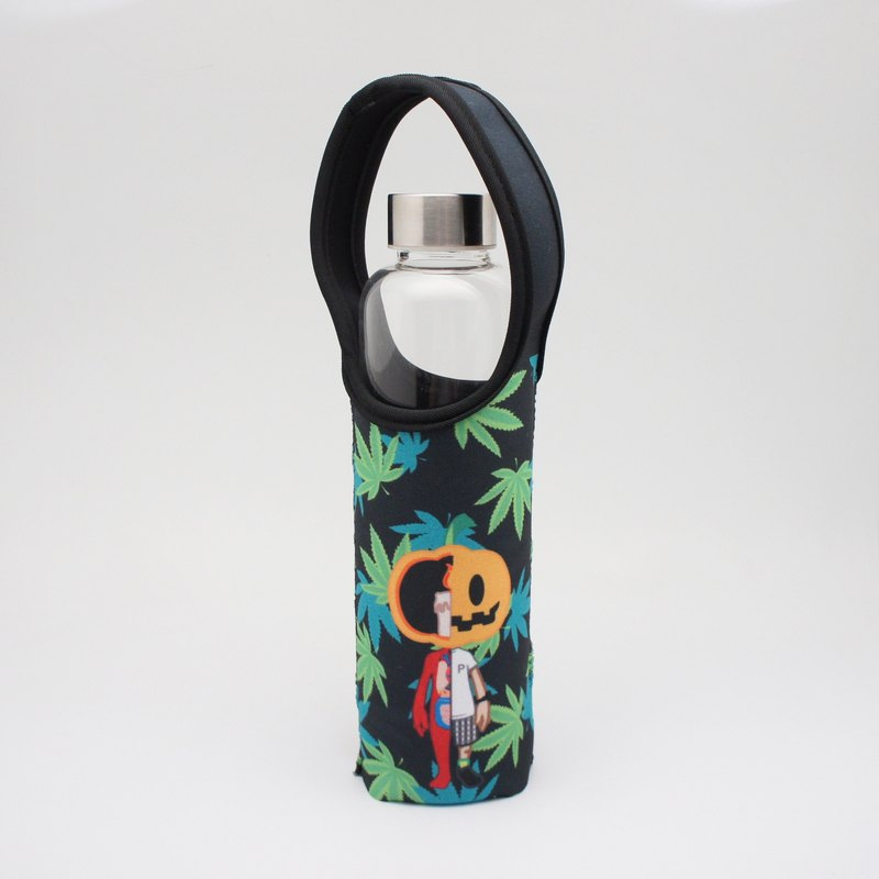 BLR Water Bottle Tote Punk Pumpkin [ Marijuana pumpkin ] TC05