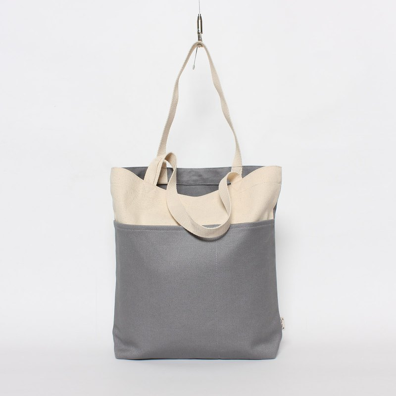 Five bag canvas bag is especially easy to use - Peace Gray
