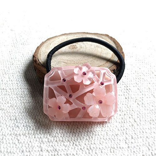 Binglie plum, square beam, hair band - Pink