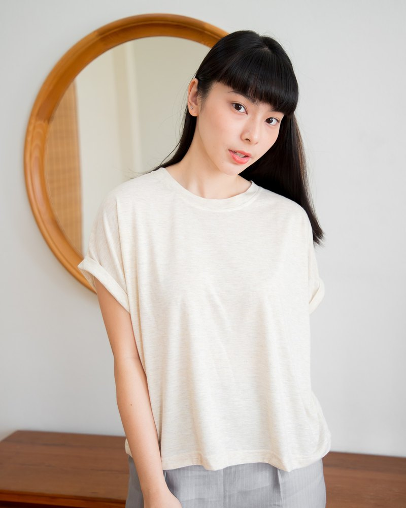 Basic T-shirt (Short sleeved) - Natural beige