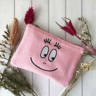 [BARBAPAPA Mr. bubble] classic smile canvas purse genuine licensed card international