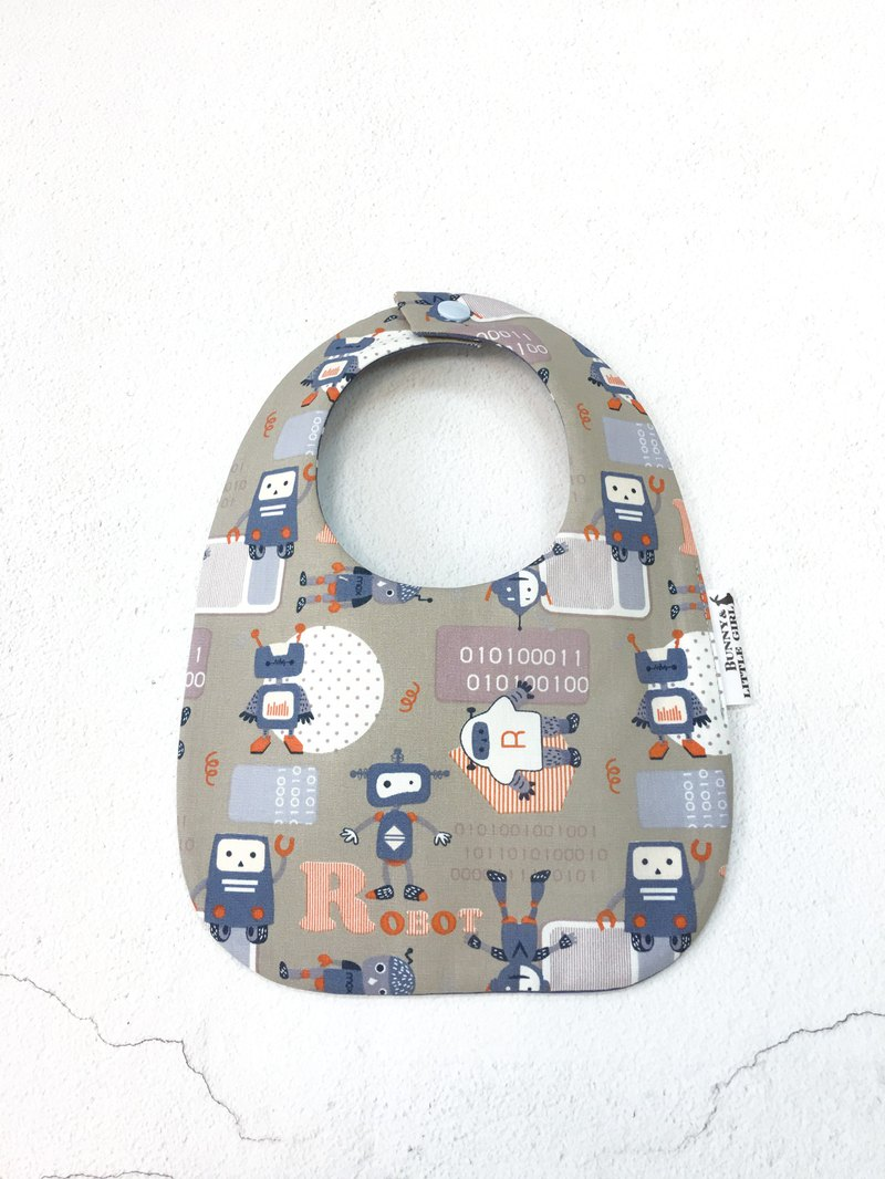 Double-sided bib - blue robot