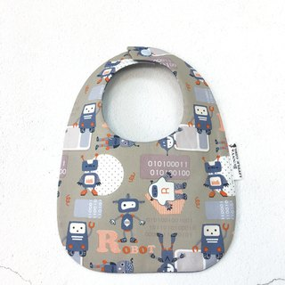 Two-sided bib - blue robot