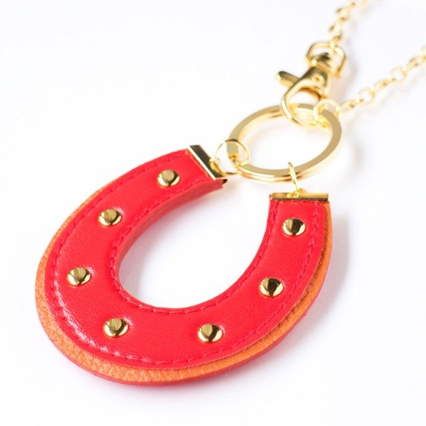 HORSESHOE CHARM 【red × orange】