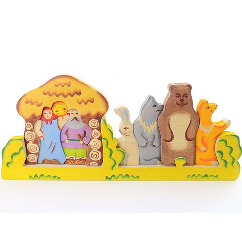 Russia story building blocks - Chun wooden fairy tale - dimensional jigsaw puzzle series: buns