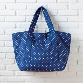 Summer Tote Dot Blue