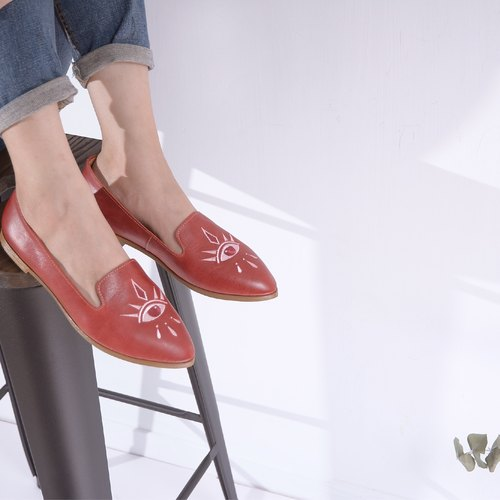 Eye Loafers | red