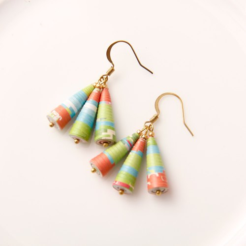 MUSEV Grass Green Colored Awl Earrings