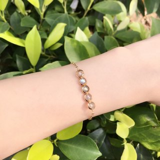 Dan Yueguang natural stone mini-series small ring 14k gold bracelet