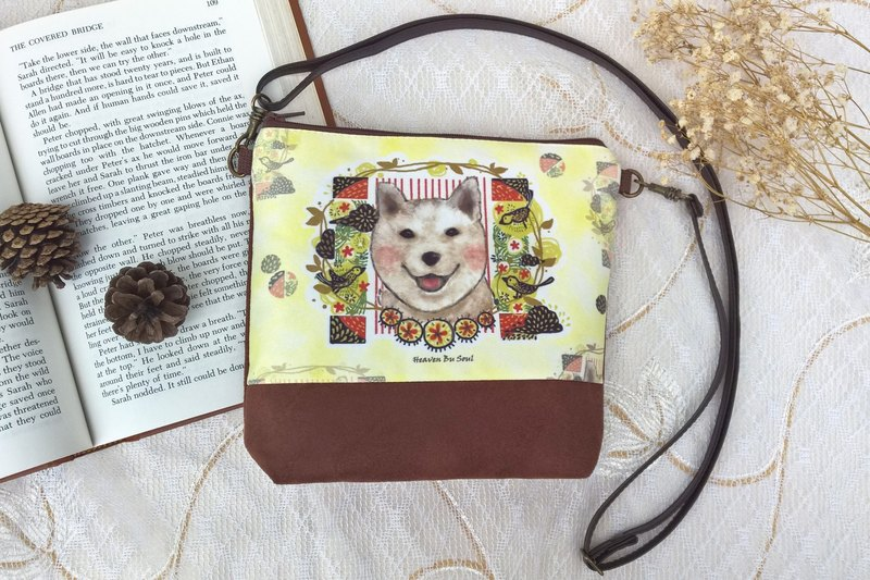 <Animals in the secret land> Happiness Shiba Inu Dog in summer / messenger bag / satchel bag / shoulder bag