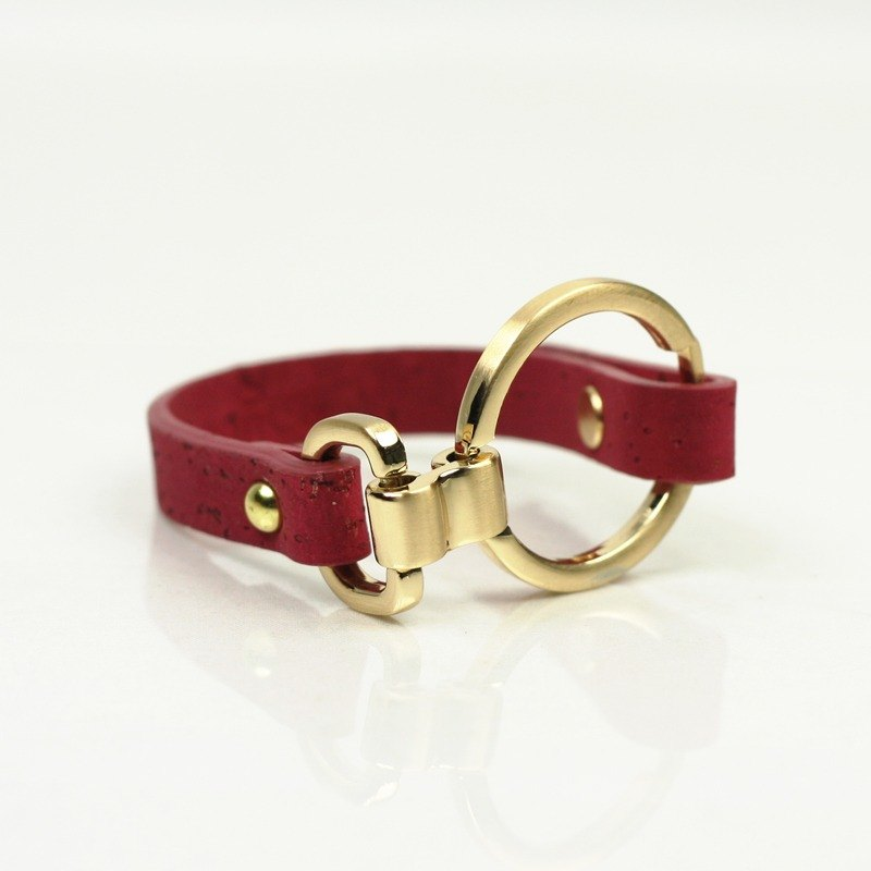 "Korea CORCO ""Ring"" series bracelet (pink peach)"