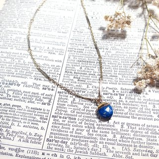 VIIART. Blue egg. Vintage natural lapis lazuli vintage silver plated 18K necklace limited edition