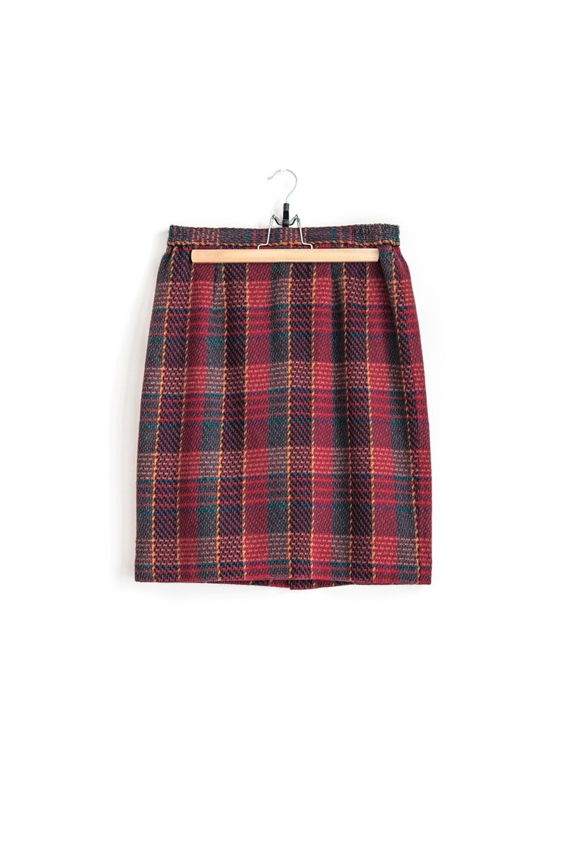 Vintage Classic vintage Plaid wool skirt waist