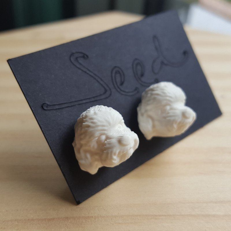 ◆ 3D Print ~  Poodle Earrings  ◆