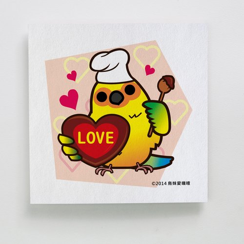Festive Greeting Card | Valentine's Day Card III - design by sister love birds Jicha | A098AB005