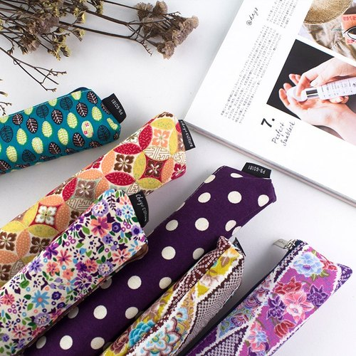 Patchwork wide bottom small pencil bag / storage bag / stationery bag