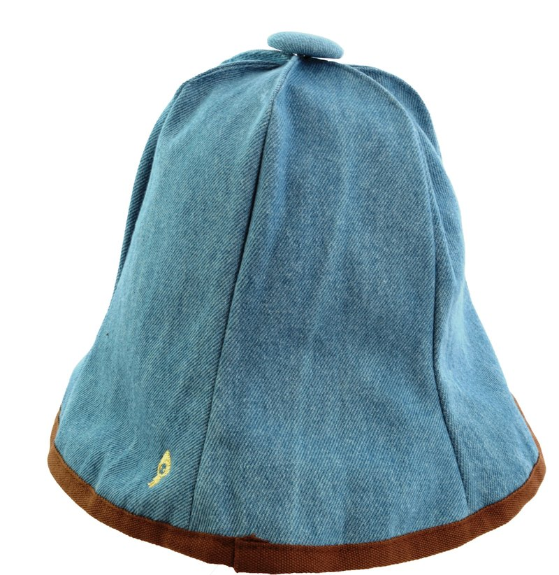 Pumpkin Hat: Fisherman's Hat Windproof and UV resistant (Twill Light Denim)