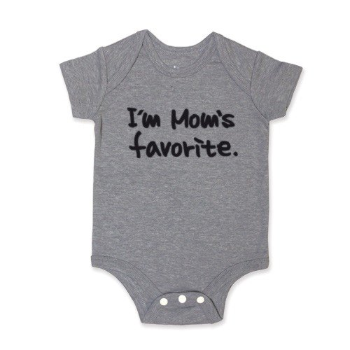 Package fart clothing jumpsuit I'm Mom's favorite (Heather Grey)