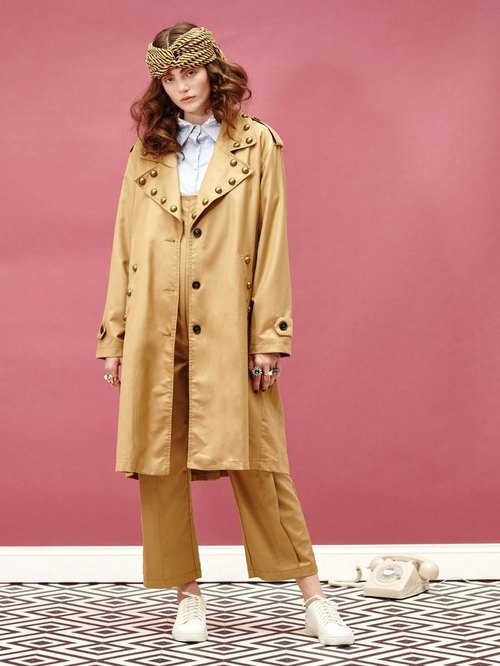 Sister Jane Gatsby Studded Trench Coat